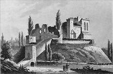 DORDOGNE - CHÂTEAU de JOVELLE à LA TOUR BLANCHE au 19e s.- Gravure du 19e siècle
