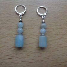 Genuine BLUE BERYL MORGANITE 'AA' drop  EAR RINGS St Silver Gift wrapped