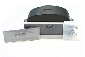Brand New Silhouette Brown Hard Eyeglasses Case Glasses Glass Clamshell Cloth Rx