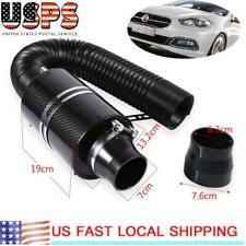 Carbon Fiber Universal Car Induction Ram Cold Air Filter Enclosed Intake Hose