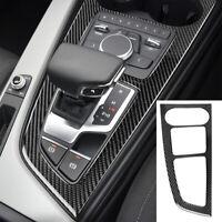 Carbon Fiber Gear Shift Panel Interior Cover Trim For Audi A4 B9 2017-19