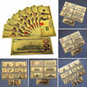 Paper Money USA Dollars Collection Banknotes Gold Foil Bill Art Craft 7pcs Lot