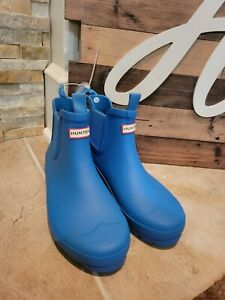 Hunter Original Chelsea Rain Boot - Women's Blue SIZE 6