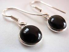 Petite Black Onyx 925 Silver Dangle Earrings India