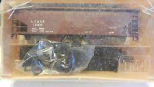 Train Miniature HO Vintage ATSF Twin Hopper Kit, NIB, Very Eary Plastic Box,
