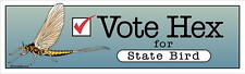 DECAL - Vote Hex for State Bird - Fly Fishing sticker