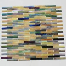 1 SQFT Stained Glass Mosaic Field Tiles On Mesh Mount