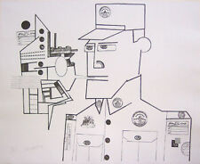 "SAUL STEINBERG Signed 1970 Original Lithograph - ""The General"""
