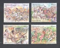 MALAYSIA 2016 WAR BATTLE SITES COMP. SET OF 4 STAMPS MINT MNH UNUSED CONDITION