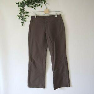 Athleta Women's Nylon Zip Ankle Bootcut Hiking Outdoor Pants 4P Petite Green