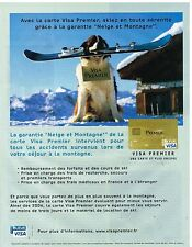 Publicité Advertising 2006 Carte Bleue Visa Premier