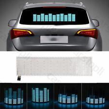 Car Sticker Music Rhythm LED Flash Light Sound Activated Equalizer Blue Lamp Kit
