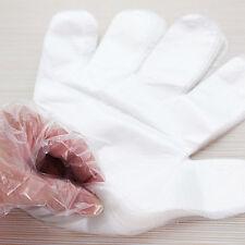 100 X Desechables Transparente PE Guantes Plástico alimentos seguros de limpieza