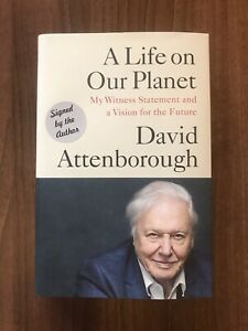 DAVID ATTENBOROUGH A Life on Our Planet SIGNED Book Autograph AFTAL / UACC