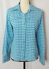 Columbia Omni-Shade Sun Protection Long Sleeve Plaid Button Down Shirt Size S/P