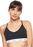 Nike 247218 Womens Indy Light Support Yoga Sports Bra Black Size Large
