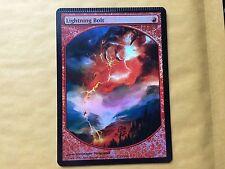 Crimped Foil Lightning Bolt Textless Promo Misprint MTG Magic Card (Top Crimp) 2