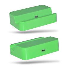 Verde Escritorio Estación de Carga Base Micro USB para Samsung Galaxy S5