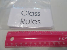 11 Laminated Class Rules Picture and Word Flashcards. Preschool word wall cards.