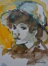 Portrait Enfant Chapeau Katherine Librowicz 1912-1989 Pologne Ecole de Paris