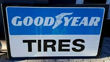 Vintage GOOD YEAR TIRES Sign -- 60's embossed metal -- MINTY Condition