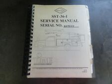 Versalift SST-36-I Service Manual   22008-02   02-99