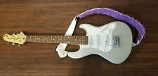 Dean Playmate Avalanche Electric Guitar - Silver & White - TESTED NICE!