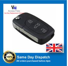 FLIP KEY FOB Compatible with Audi A6, RS6, TT 3 BUTTON 4D0837231K (A03)