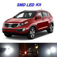11 x White LED Bulbs for 2011-2016 Kia Sportage Reverse + Tag + Interior Light