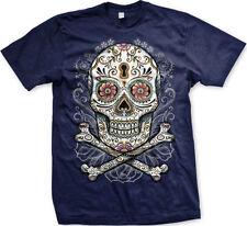Dia De Los Muertos Floral Sugar Skull Day of The Dead Angels Bones Men's T-Shirt