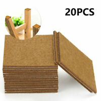 20pc 70mm Large Furniture Felt Pads Floor Protection Wood Laminate Heavy Duty