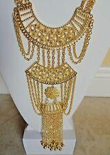 Gold Tone Cleopatra Necklace Lk by Leetal Kalmanson Large