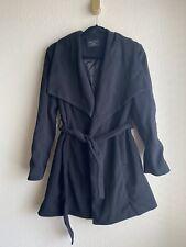 Womens Love Tree Size L Black Wrap Lined Coat