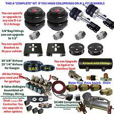 Air Suspension Kit-COMPLETE kit if U-have Strut Front/Coils Rear See Description