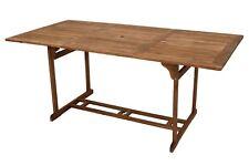 Gartentisch Korfu 180x90 cm Tisch Holztisch Akazie Garten Terrasse Schirmloch