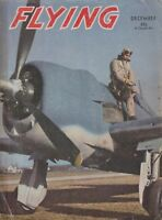 Flying Magazine (Dec 1943) (Marine Aviation, Zero A6M, Gun Sight, F6F Hellcat)