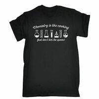 Chemistry Is Like Cooking Just Dont Lick The Spoon T-SHIRT tee funny birthday
