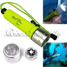 CREE 2000LM XM-L T6 LED Scuba Diving Flashlight Torch Underwater 60M Waterproof