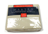 Martex New NOS Vintage 300 Thread Count King Flat Sheet Brown Tan Deep Fitted