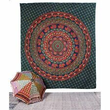 Indian Famous Mandala Tapestry Double Ethnic Queen Floral Printed Wall Hanging