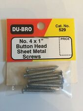 "Du-bro No. 4 X 1"" Button Head Sheet Metal Screws"