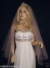 "Wedding Veil Center Gathered Fingertip 72"" Width 32"" 40"" length Pencil Edge"