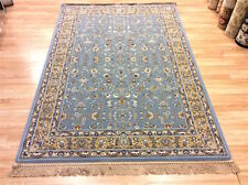LIGHT BLUE Classic Traditional Persian Floral Des 100% Wool Rug 160x230cm 50%OFF