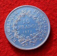 RARE MONNAIE 10F HERCULE 1971 EN ARGENT
