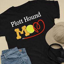 Plott Hound Dog Mom and Dad Comfy Cute Dog Lover T-Shirt