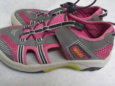 TEVA Youth Size 3 Girls Grey Pink Summer Beach Water Shoes 1000327
