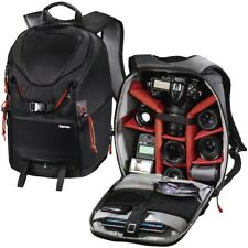 Hama Large DSLR Camera Backpack Rucksack Bag Case+RainCover For Nikon Sony Canon