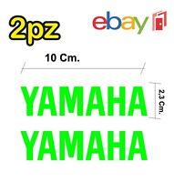 2x adesivi YAMAHA per moto e scooter - colore verde acido - racing moto