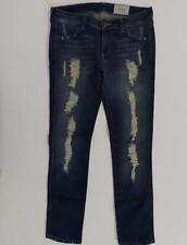 """SIWY Medium Wash """"Hannah"""" Distressed Ripped Slim Cut Jeans, Sz 29, Ins 27"""