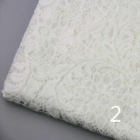 Flower Floral Embroidery Lace Fabric Wedding Bridal Dresses Crafts Retro 1 Yard